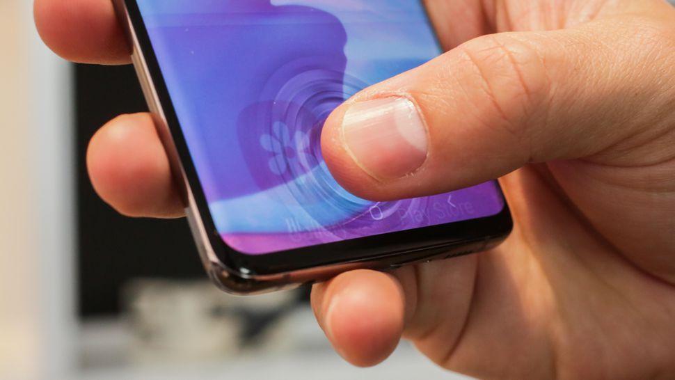 Samsung S10 vingerafdrukscanner